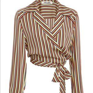 Diane von Furstenberg long sleeve sleeve silk top